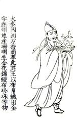 Người Đại Tần được vẽ vào thế kỷ XVII, trong sách Tam tài đồ hội 三才圖會 của Vương Kỳ (1529 – 1612) (from the Asian Library in the University of British Columbia, Domaine public)