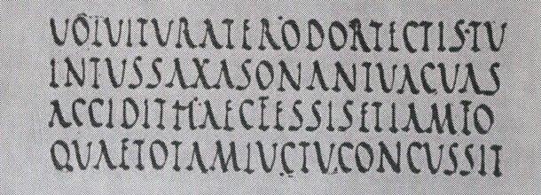 Chữ Rustic capitals , khoảng thế kỷ thứ IV