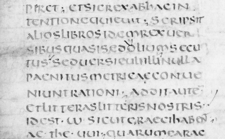 Chữ Ông-xi-an, Pháp, thế kỷ thứ 7