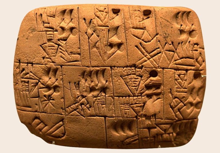 Chữ tượng hình Cuneiform. Chủ đề: khẩu phần rượu.