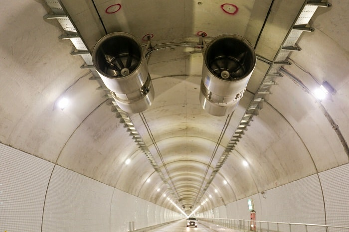 Hệ thống thông gió hiện đại trong hầm Hải Vân 2.