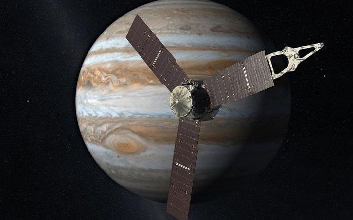 Juno sẽ lao vào sao Mộc khi kết thúc sứ mệnh của nó vào tháng 7-2021. Ảnh: NASA / JPL-Caltech.