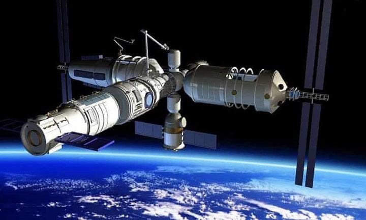 Hình ảnh của một nghệ sĩ về trạm vũ trụ theo kế hoạch của Trung Quốc. Ảnh: CNS.
