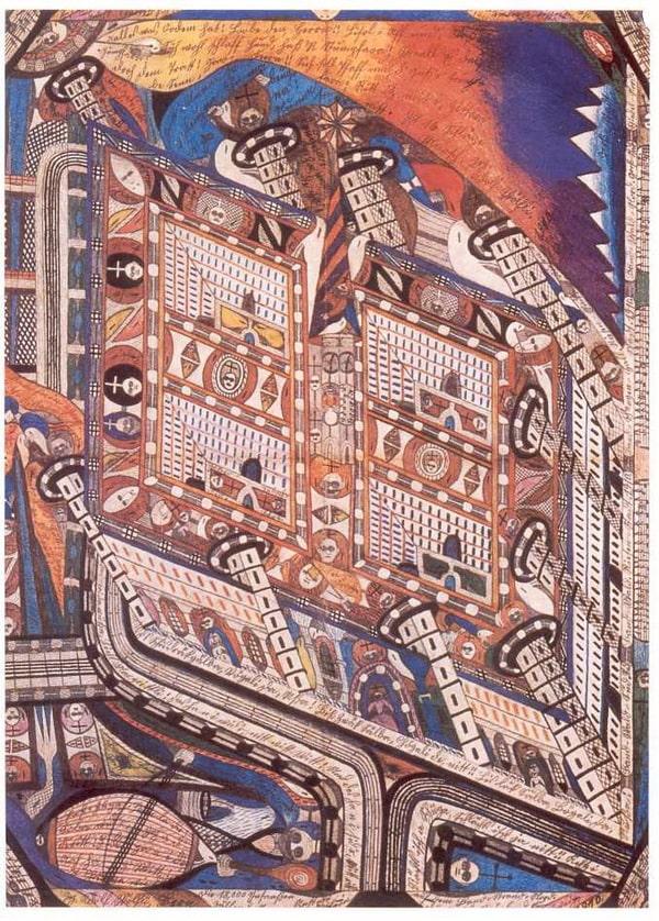Tác phẩm của Adolf Wölfli cuốn hút đến từng chi tiết