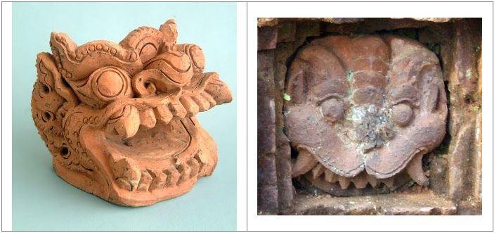 Tượng thần Shiva (chùa Võng La, Đông Anh, Hà Nội). Chất liệu đá.