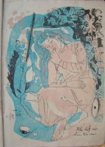 """Bức tranh """"Khi tỉnh rượu lúc tàn canh"""" vẽ trong truyện Kiều của họa sĩ Nguyễn Gia Trí"""