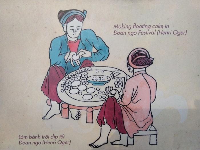 Làm bánh trôi dịp Tết Đoan Ngọ.