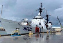 Tàu cảnh sát biển 8021 về Việt Nam